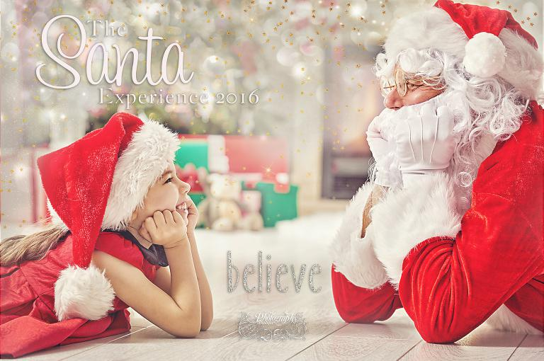 46961522 - santa claus and cute girl getting ready for christmas.